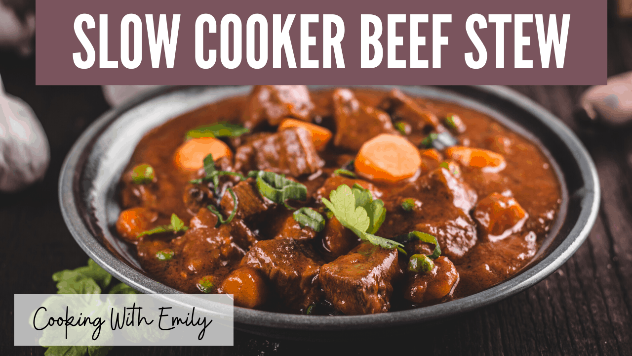 Slow Cooker Beef Stew With Red Wine Herbs